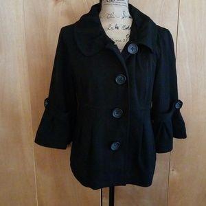 3/4 sleeve Black Jacket